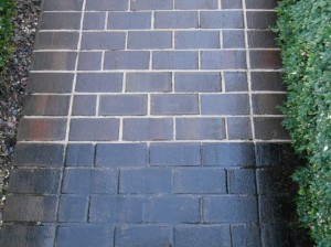 Pressure Washed Brick Pavers