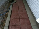 clean pressure washed paver walkway