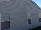 clean softwashed siding