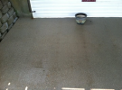 mildew free pressure washed concrete