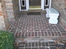 pressure washed clean brick steps