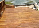 pressure washed wood deck