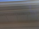 sparkling clean softwashed gutters